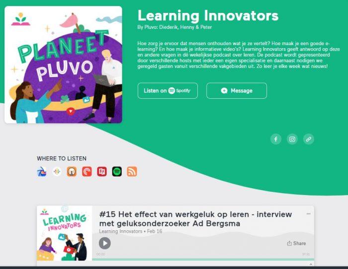 Screenshot podcast Pluvo